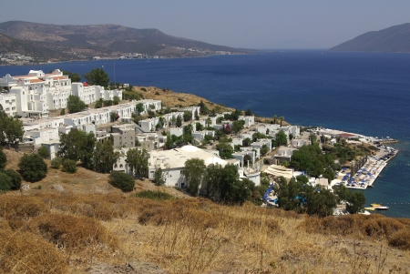 View from the hill of the city of Bodrum in Turkey