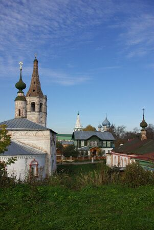 Suzdal. Nicholas and the Nativity Church in autumn day photo