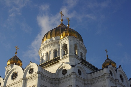 Christ the Savior Cathedral at Moscow in winter, Russia