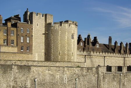 The Tower of London, England on a sunny summer day