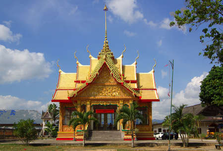 thani: Building in the temple Wat Ta Khun in Surat Thani, Thailand