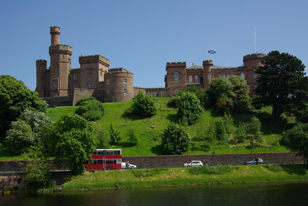 ness river: Inverness Castle in Scotland in summer day