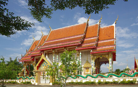 Wat Kaeo Manee Si Mahathat in the province of Phang Nga, Thailand photo