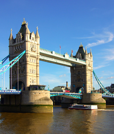 Tower Bridge in London, England in summer day photo