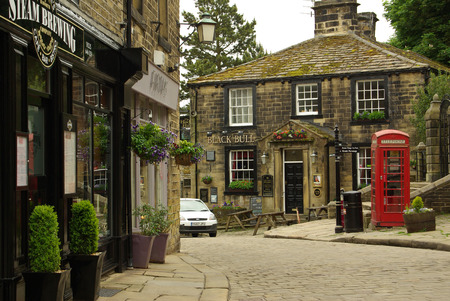 The village of Haworth, home of the Bronte sisters, UK in summer day