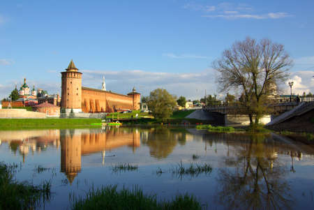 Kolomna Kremlin and its reflection in the river, Kolomna, Russia photo