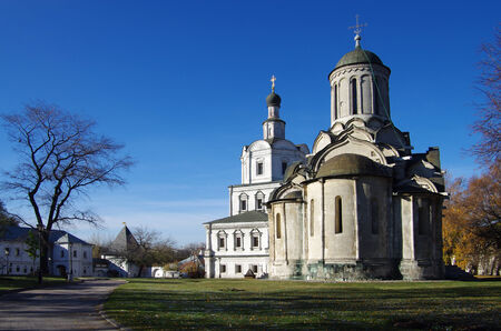spassky: MOSCOW, RUSSIA - October 19, 2014: The Spassky Cathedral of the Holy Andronicus Monastery