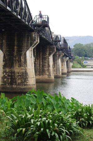 KANCHANABURI, THAILAND - January 11, 2015: Bridge on the River Kwai