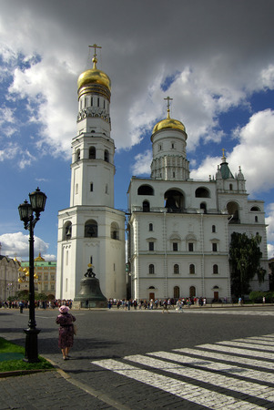 MOSCOW, RUSSIA - August 23, 2014: Ivan the Great Bell Tower in the Moscow Kremlin
