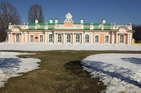 kuskovo: MOSCOW, RUSSIA - April 13, 2013: Kuskovo estate of the Sheremetev family in spring day