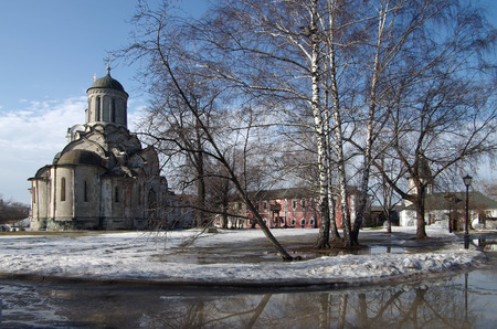 spassky: MOSCOW, RUSSIA - March 09, 2015: The Andronikov Monastery in spring day