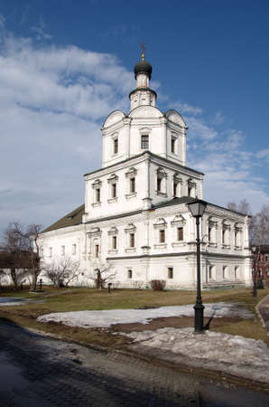 michael the archangel: MOSCOW, RUSSIA - March 09, 2015: The Church of Michael the Archangel in Andronikov Monastery