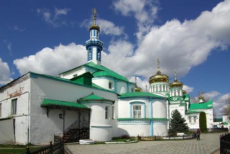 holiness: KAZAN, RUSSIA - May 07, 2014: Raif monastery near the city of Kazan in spring day Stock Photo