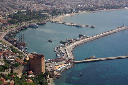 ALANYA, TURKEY - June 16, 2014: Red Tower named K?z?l Kule in Alanya Stock fotó
