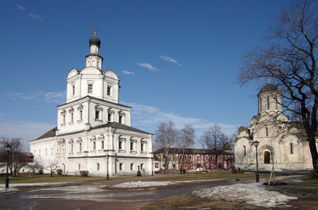 MOSCOW, RUSSIA - March 09, 2015: The Church of Michael the Archangel in Andronikov Monastery photo