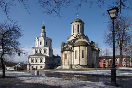 MOSCOW, RUSSIA - March 09, 2015: The Andronikov Monastery in spring day photo