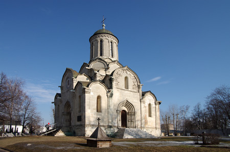 spassky: MOSCOW, RUSSIA - March 09, 2015: The Spassky Cathedral in Andronikov Monastery