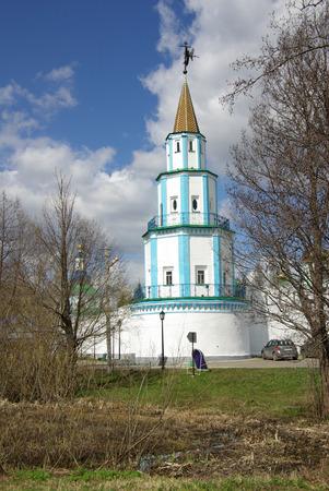 the believer: KAZAN, RUSSIA - May 07, 2014: Raif monastery near the city of Kazan in spring day Stock Photo