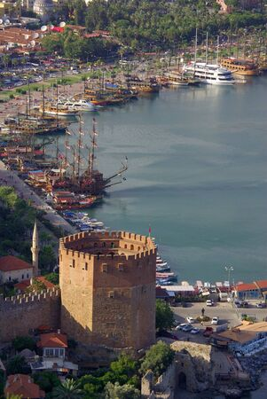 ALANYA, TURKEY - June 09, 2014: Red Tower named K?z?l Kule in Alanya