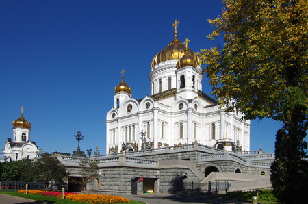saviour: MOSCOW, RUSSIA - September 21, 2015: Cathedral of Christ the Saviour