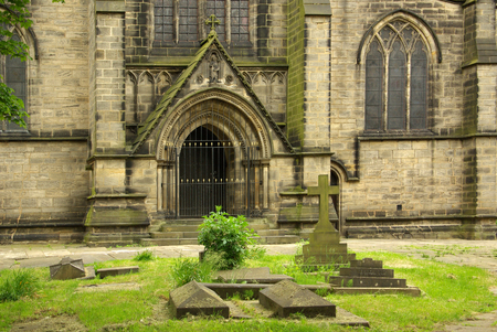 britannia: LEEDS, YORKSHIRE, UK - June 6, 2013: St. Michael and All Angels Church