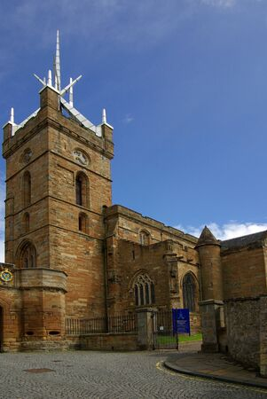 architecture alphabet: LINLITHGOW , SCOTLAND - June, 2013:   St Michaels Church in the town of Linlithgow