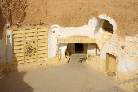 sunroof: TUNISIA, AFRICA - August 03, 2012: Scenery for the film Star Wars