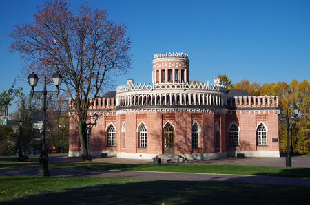 the tsaritsyno: MOSCOW, RUSSIA - October 21, 2015: Tsaritsyno in autumn day