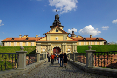 belarus: NESVIZH, BELARUS - May, 2013: Radziwill castle in Nesvizh, Belarus