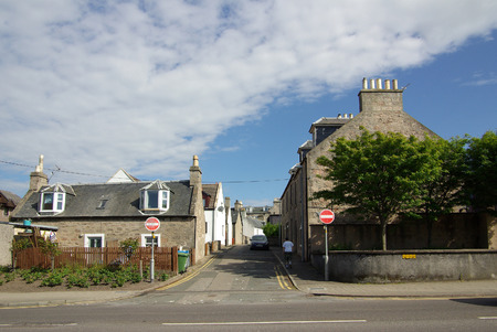 highlands region: NAIRN, SCOTLAND - June, 2013: Street in Nairn, Scotland on a sunny summer day Editorial
