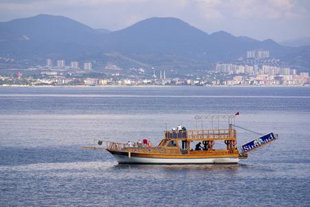 alanya: ALANYA, TURKEY - June, 2014: Boats in the port of Alanya Editorial