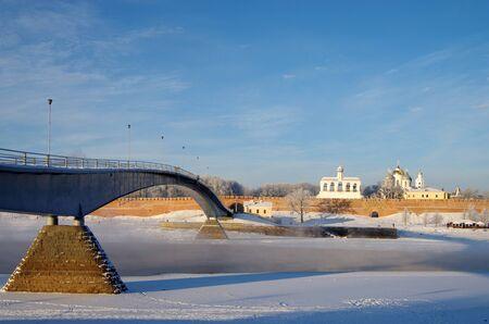 novgorod: VELIKY NOVGOROD, RUSSIA - January, 2016: Novgorod Kremlin in winter day in Veliky Novgorod, Russia