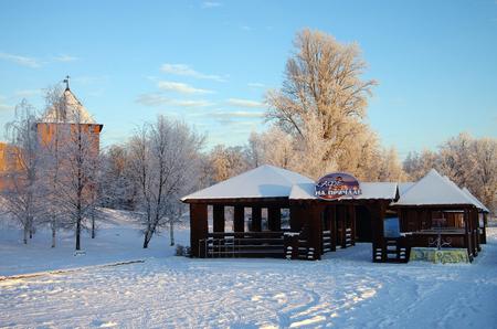 veliky: VELIKY NOVGOROD, RUSSIA - January, 2016: Novgorod Kremlin in winter day in Veliky Novgorod, Russia