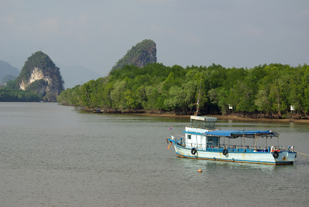krabi: KRABI, THAILAND - January,  2014: View of the embankment Krabi Editorial