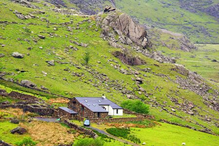 snowdonia: A lonely house in Snowdonia, Wales. Stock Photo