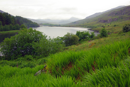 snowdonia: View of the mountain valley in Snowdonia National Park in Wales