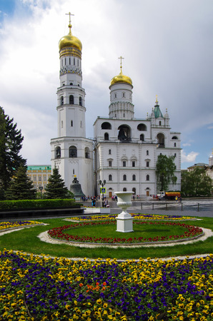 MOSCOW, RUSSIA - MAY, 2016: Ivan the Great Bell Tower in the Moscow Kremlin Editorial