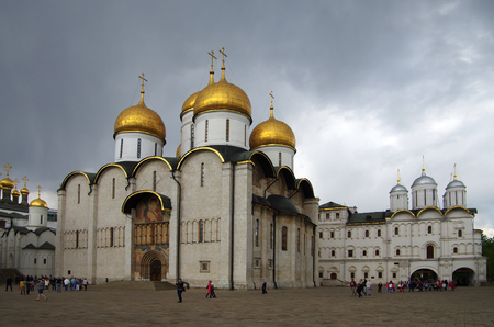 MOSCOW, RUSSIA - May, 2016: The Cathedral of the Dormition in the Moscow Kremlin
