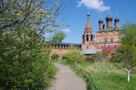 MOSCOW, RUSSIA - MAY, 2016: Krutitsy Patriarchal Metochion, established in the late 13th century, Moscow, Russia Editorial