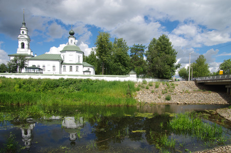 KOSTROMA, RUSSIA - July, 2016: Spaso-Zaprudnensky monastery in summer day
