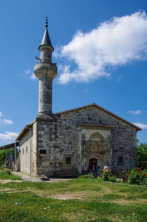 STARYI KRYM, CRIMEA - June, 2018: Khan Uzbek mosque in summer day 版權商用圖片