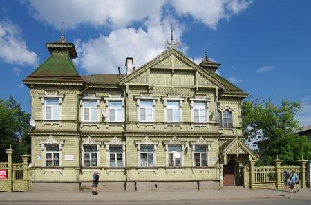 KOSTROMA, RUSSIA - July, 2016: Mansion of architect Smurov on Simanovsky street