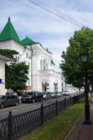 KOSTROMA, RUSSIA - July, 2016: The streets of the old city on a sunny summer day