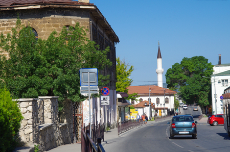 BAKHCHISARAY, CRIMEA - June, 2018: The streets of the old city 新聞圖片