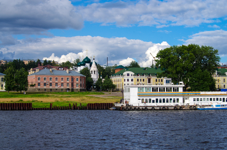 KOSTROMA, RUSSIA - July, 2016:  View of Kostroma town, from the Volga river 新聞圖片