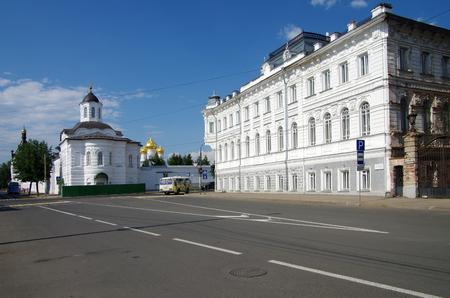 KOSTROMA, RUSSIA - July, 2016: View of Bogoyavlensko-Anastasiin monastery in Kostroma 新聞圖片