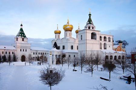KOSTROMA, RUSSIA - February, 2018: Ipatyevsky Monastery in winter day