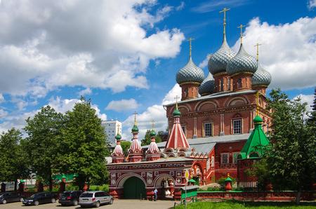 KOSTROMA, RUSSIA - July, 2016: View of the Resurrection Church on the Debra