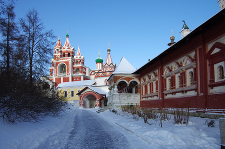 ZVENIGOROD, RUSSIA - January, 2017: Savvino-Storozhevsky monastery in Zvenigorod Moscow region in winter day