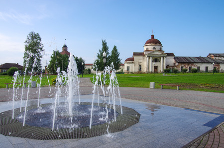 KIRILLOV, RUSSIA - August, 2017: The Cathedral of the Kazan Icon of the Mother of God 版權商用圖片